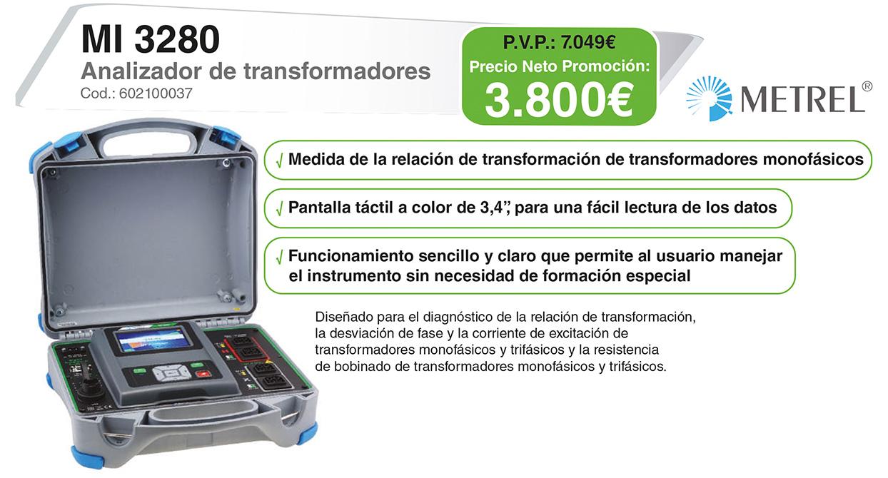 Analizador de transformadores MI 3280